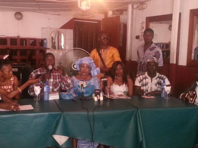 conference de presse Djessou Mama et Manfila Fanta Kanté