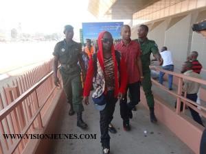 Safa Diallo à l'aéroport de Conakry